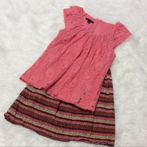GORGEOUS WILLI SMITH LACE TOP IN CORAL